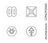 4 line hope  zinc  good luck ... | Shutterstock .eps vector #1296292060