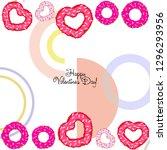 valentine's day  heart donut ... | Shutterstock .eps vector #1296293956