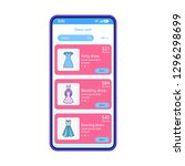 clothes rental app smartphone...
