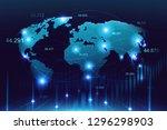 stock market or forex trading... | Shutterstock . vector #1296298903