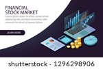 isometric financial stock... | Shutterstock .eps vector #1296298906