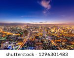 aerial view of bangkok skyline  ... | Shutterstock . vector #1296301483