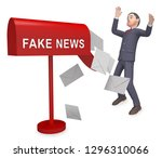 fake news icon letters means... | Shutterstock . vector #1296310066