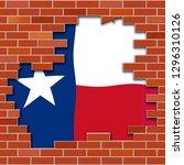 texas border wall hole... | Shutterstock . vector #1296310126