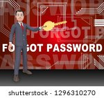 forgot password sign shows... | Shutterstock . vector #1296310270