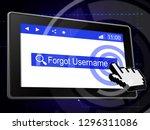 forgot username tablet means... | Shutterstock . vector #1296311086