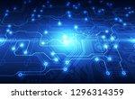 vector circuit board technology ... | Shutterstock .eps vector #1296314359