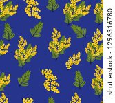 seamless pattern with branches... | Shutterstock .eps vector #1296316780