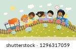 illustration of the multiracial ... | Shutterstock . vector #1296317059