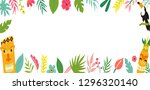 Trendy Summer Tropical Banner...