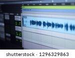 recording studio audio computer ... | Shutterstock . vector #1296329863