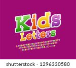 vector colorful funny alphabet... | Shutterstock .eps vector #1296330580