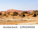 abstract view of a dune in... | Shutterstock . vector #1296334036