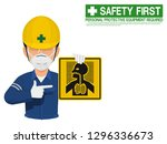 industrial worker is presenting ... | Shutterstock .eps vector #1296336673