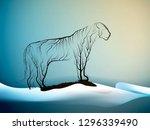 tiger extinction concept ...   Shutterstock .eps vector #1296339490
