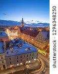 night city life olsztyn | Shutterstock . vector #1296348250