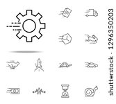 fast mechanism icon. speed... | Shutterstock . vector #1296350203