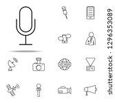 microphone icon. media  press...