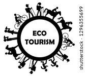 eco tourism icon with stylized... | Shutterstock .eps vector #1296355699