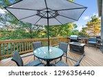 deck decor exterior residential ... | Shutterstock . vector #1296356440