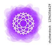 sahasrara icon. the seventh... | Shutterstock .eps vector #1296356629