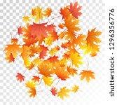 maple leaves vector  autumn... | Shutterstock .eps vector #1296356776