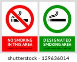 no smoking and smoking area... | Shutterstock .eps vector #129636014