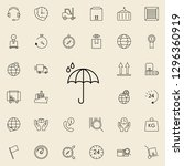 raindrop icon. logistics icons... | Shutterstock . vector #1296360919