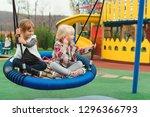 happy kids having fun on... | Shutterstock . vector #1296366793