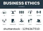 business ethics set icons... | Shutterstock .eps vector #1296367510