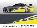 car wrap decal design vector.... | Shutterstock .eps vector #1296369370