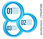 blue next steps circles design... | Shutterstock .eps vector #129639188