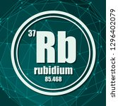 rubidium chemical element. sign ... | Shutterstock .eps vector #1296402079