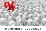 red percentage symbol over the  ... | Shutterstock . vector #129640826