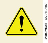 vector danger warning attention ... | Shutterstock .eps vector #1296413989