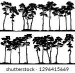 set of vector horizontal banner ... | Shutterstock .eps vector #1296415669