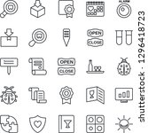 thin line icon set   contract... | Shutterstock .eps vector #1296418723