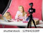 social media influencer young...   Shutterstock . vector #1296423289
