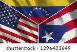 usa and venezuela and puerto... | Shutterstock . vector #1296423649