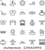 thin line icon set   cafe... | Shutterstock .eps vector #1296424993