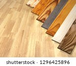 new parquet planks of different ... | Shutterstock . vector #1296425896