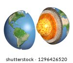 structure of the earth. model... | Shutterstock . vector #1296426520