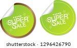 super sale stickers | Shutterstock .eps vector #1296426790