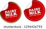 dairy milk stickers | Shutterstock .eps vector #1296426793
