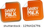 dairy milk stickers | Shutterstock .eps vector #1296426796