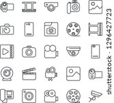 thin line icon set   camera... | Shutterstock .eps vector #1296427723