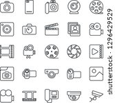 thin line icon set   camera... | Shutterstock .eps vector #1296429529