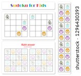 sudoku for kids with funny... | Shutterstock . vector #1296430393