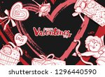 illustration of valentine with... | Shutterstock .eps vector #1296440590