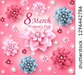 greeting card for women s day....   Shutterstock .eps vector #1296442786